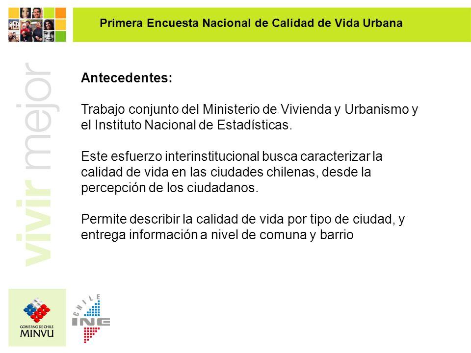 Antecedentes: Trabajo conjunto del Ministerio de Vivienda y Urbanismo y el Instituto Nacional de Estadísticas. Este esfuerzo interinstitucional busca