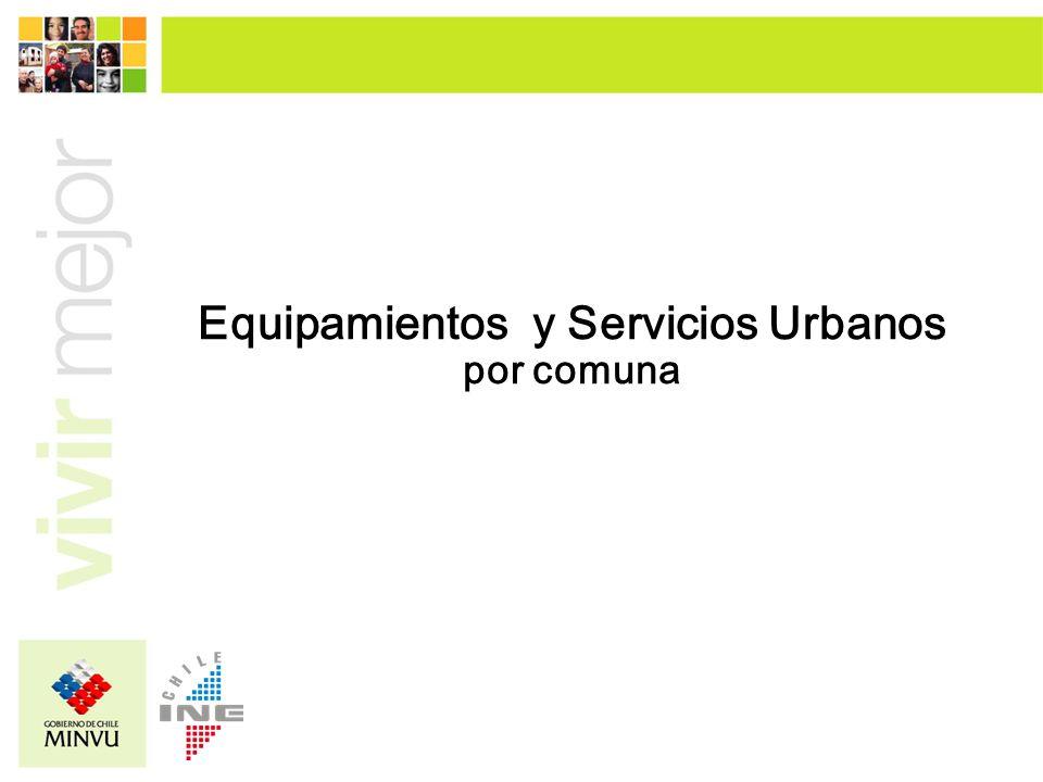 Equipamientos y Servicios Urbanos por comuna