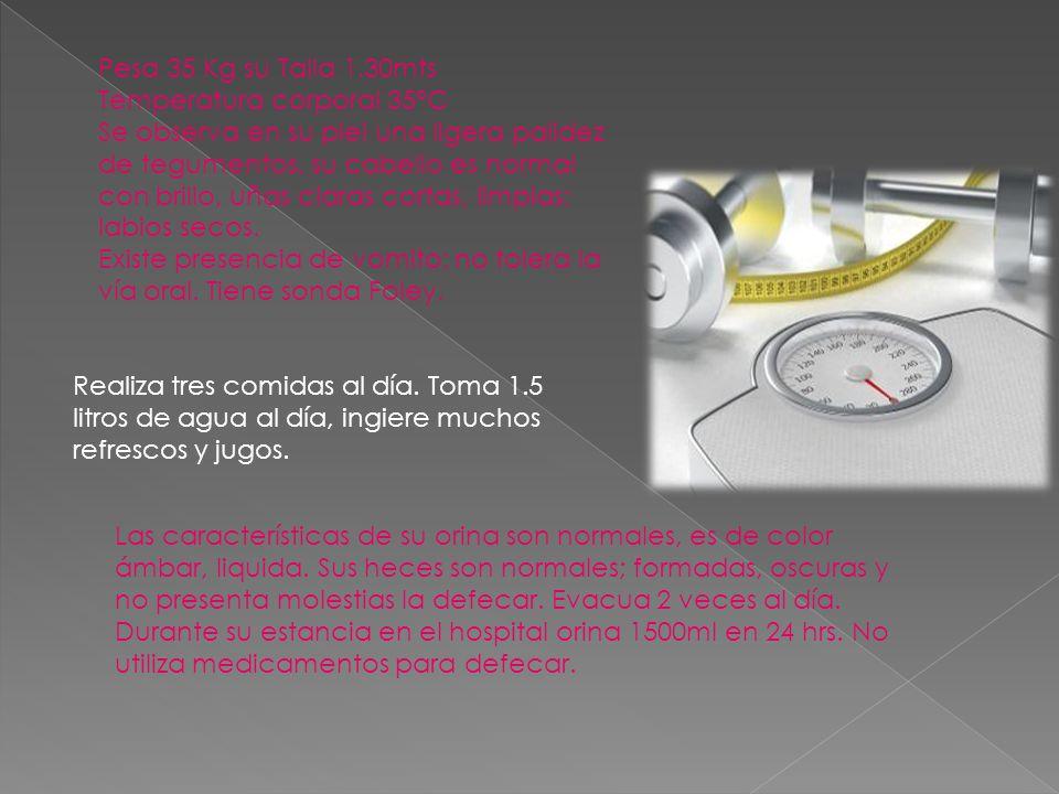 FC 85x 1 FR 20x 1 T/A 110/80 mm/Hg Llenado capilar de 2 seg.