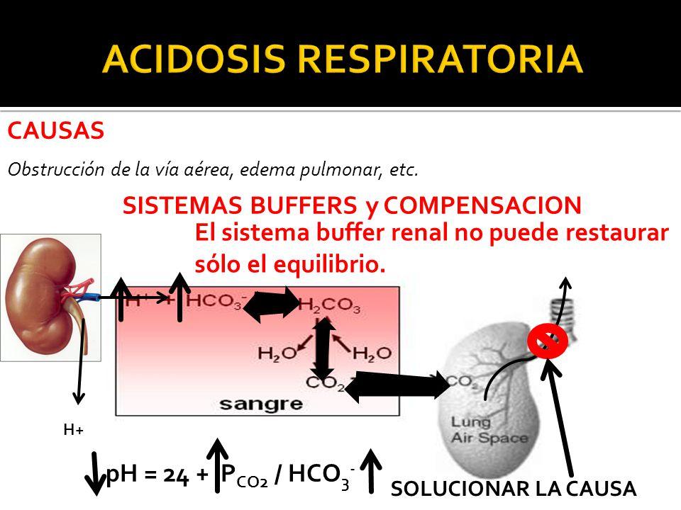 CAUSAS Obstrucción de la vía aérea, edema pulmonar, etc.