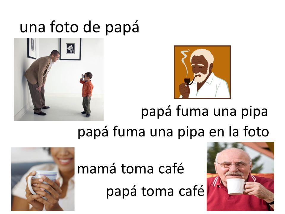 una foto de papá papá fuma una pipa papá fuma una pipa en la foto mamá toma café papá toma café