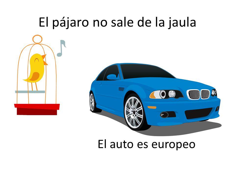 El pájaro no sale de la jaula El auto es europeo