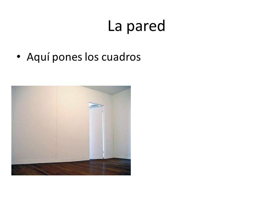 La pared Aquí pones los cuadros
