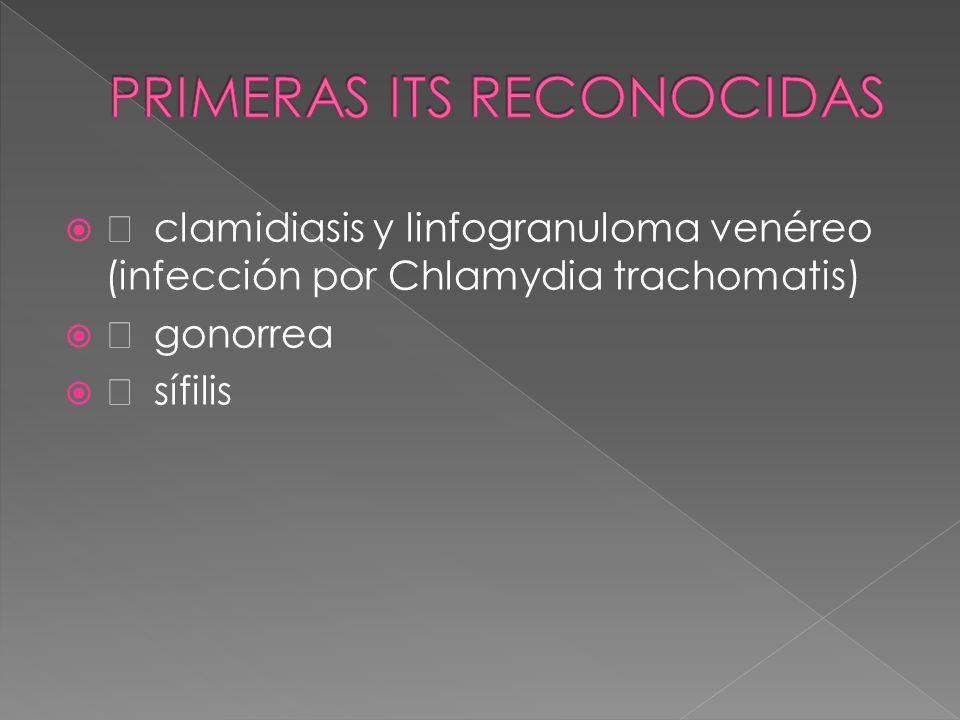   clamidiasis y linfogranuloma venéreo (infección por Chlamydia trachomatis)   gonorrea   sífilis