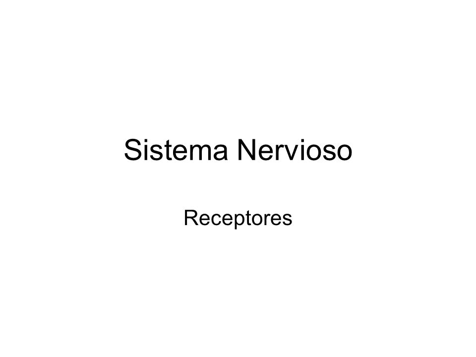 Sistema Nervioso Receptores