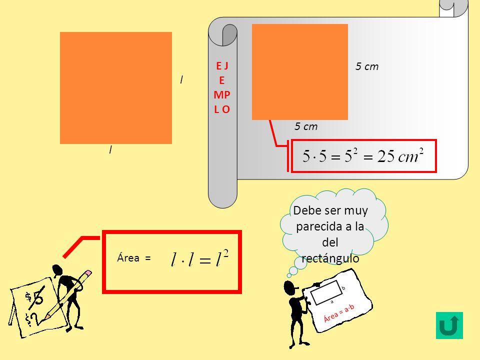AREA DE CUADRADO Y RECTANGULO El área es la medida de la superficie de una figura.