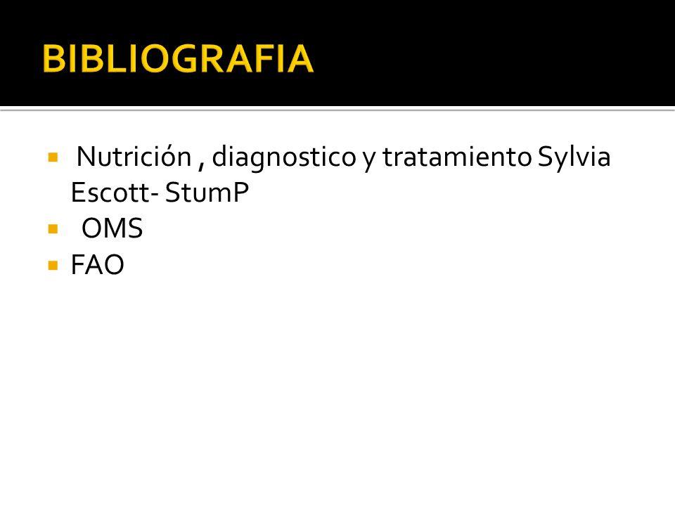 Nutrición, diagnostico y tratamiento Sylvia Escott- StumP  OMS  FAO