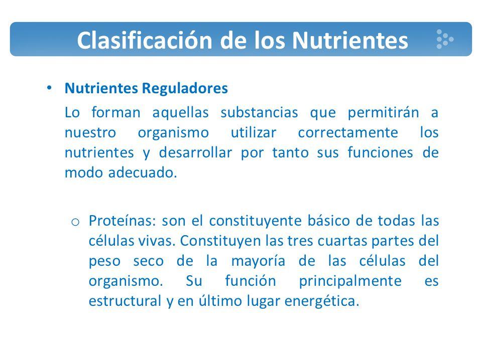 Clasificación de los Nutrientes o Hidratos de Carbono: también llamados glucósidos, son la fuente de energía más rápida y rentable del organismo humano.
