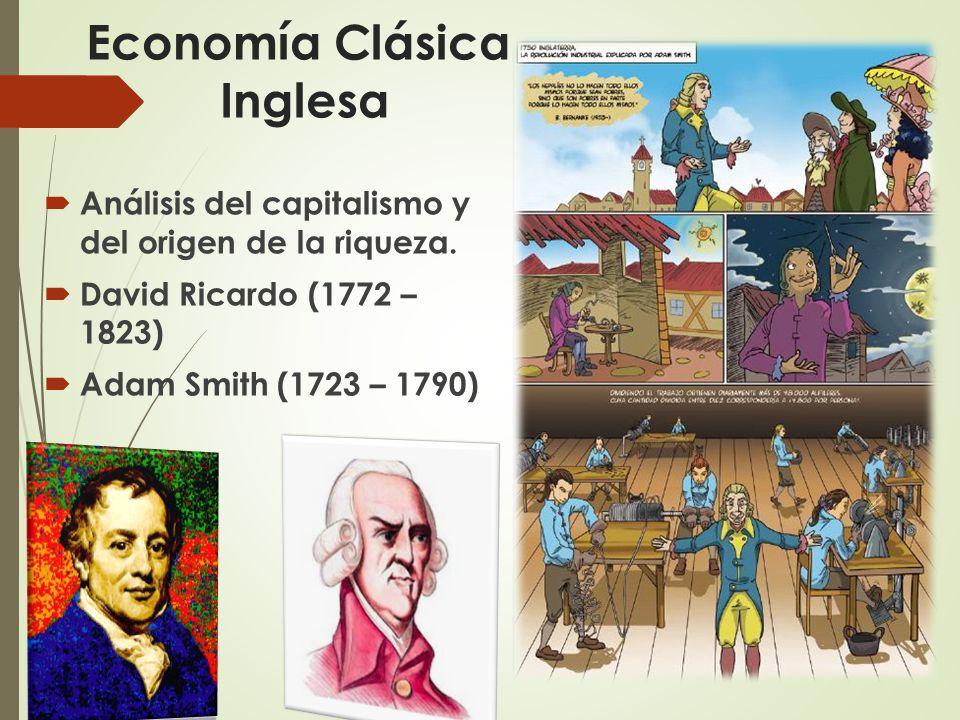 Economía Clásica Inglesa  Análisis del capitalismo y del origen de la riqueza.