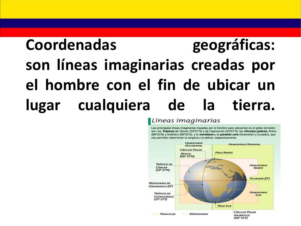 La posición relativa ó geográfica de Colombia la ubica en la esquina noroccidental de América del sur; los límites de Colombia son: - Norte: Meridiano 82, Nicaragua,Jamaica,Costa Rica, Haití, República Dominicana, Honduras, Panamá, Venezuela,Costa Rica, Océano Atlántico, a lo largo de 1626 Km.