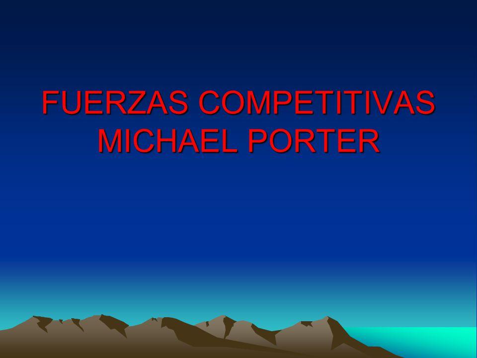 FUERZAS COMPETITIVAS MICHAEL PORTER