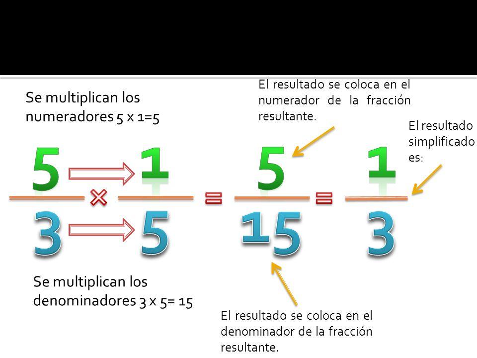  Para dividir dos fracciones se multiplican en cruz, es decir: 1.