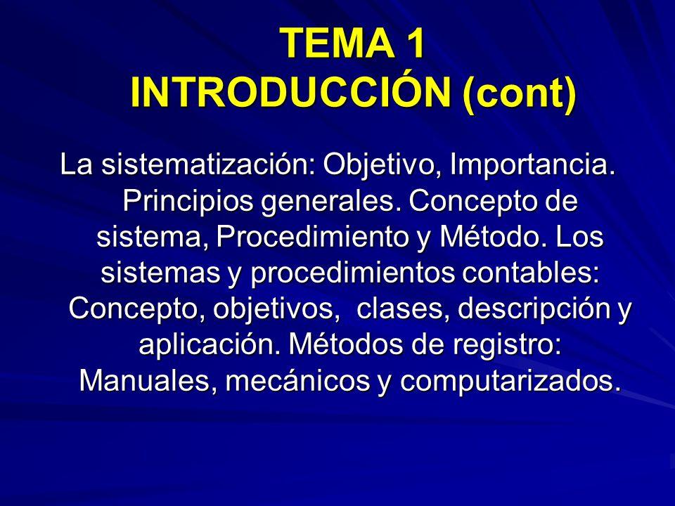 La sistematización: Objetivo, Importancia.Principios generales.