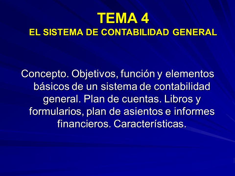 Concepto.Objetivos, función y elementos básicos de un sistema de contabilidad general.