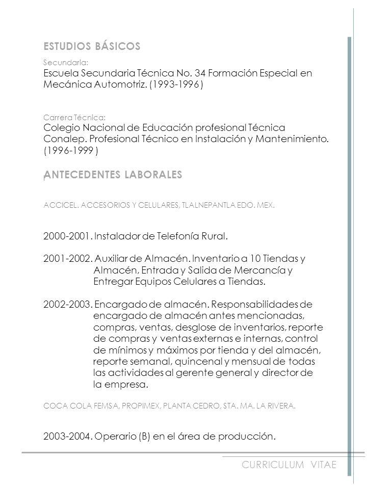 Omar Cayetano López CURRICULUM VITAE FECHA DE NACIMIENTO: 21 de ...