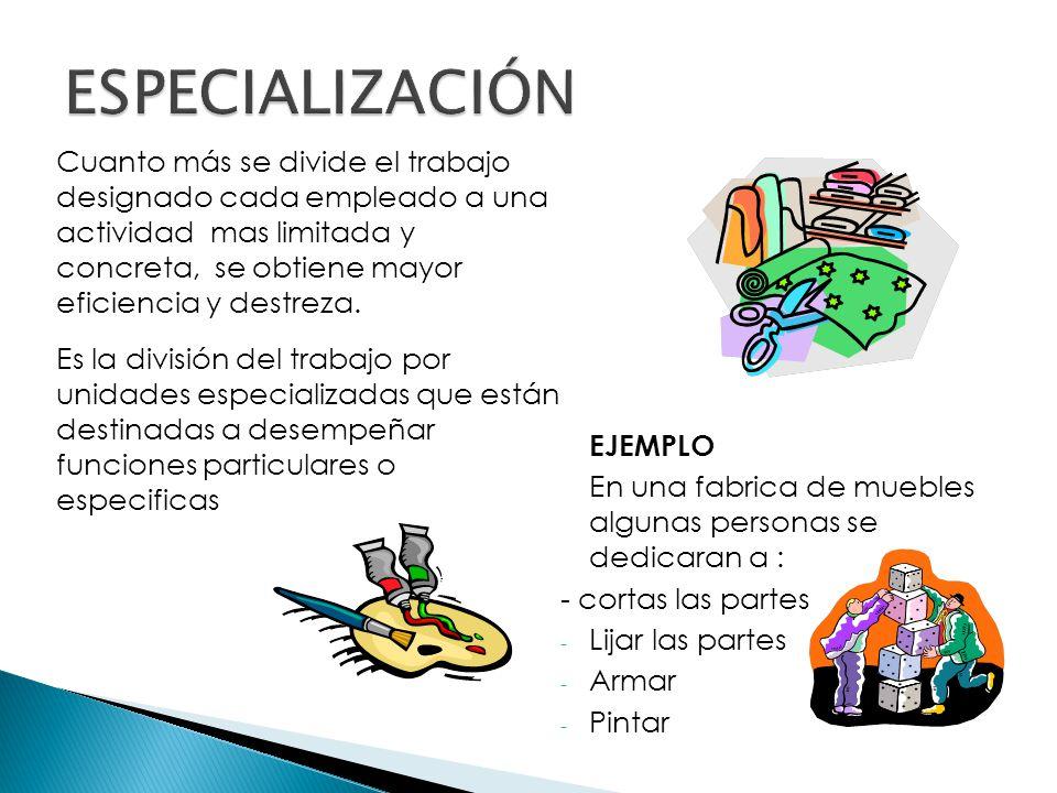  Es el agrupamiento de funciones dentro de la estructura de la organización Agrupación de actividades comunes para formar una unidad DEPARTAMENTALIZACION FUNCIONAL: Se divide el trabajo en departamentos que representan localidades o áreas geográficas.