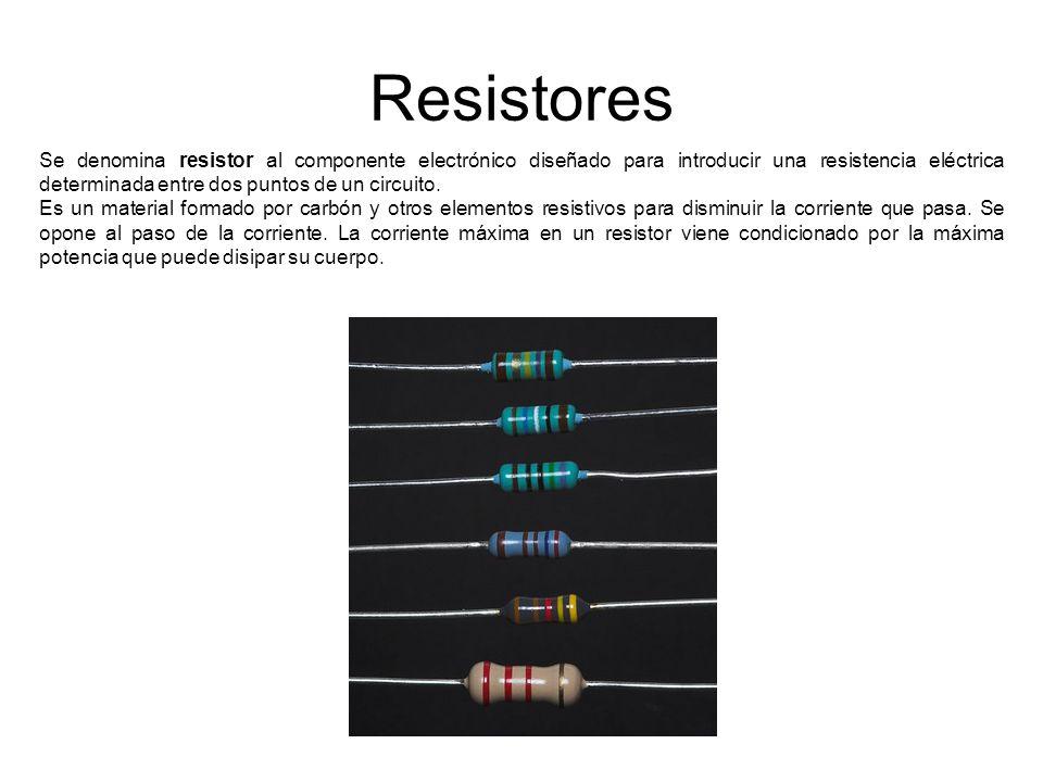 Se denomina resistor al componente electrónico diseñado para ...