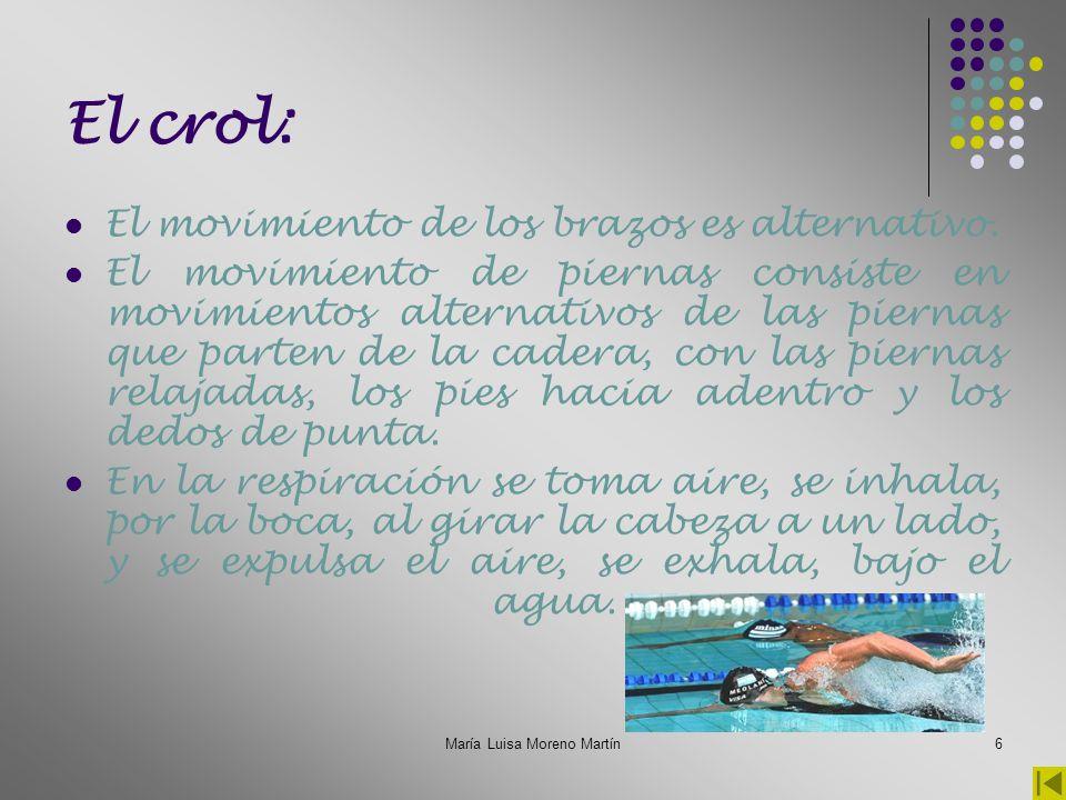 María Luisa Moreno Martín7 Otras modalidades (I): El waterpolo: Es un deporte acuático en equipo que se lleva a cabo en una piscina, donde los equipos que compiten intentan lanzar una pelota o balón flotante dentro de metas definidas en ambos lados del área de juego.