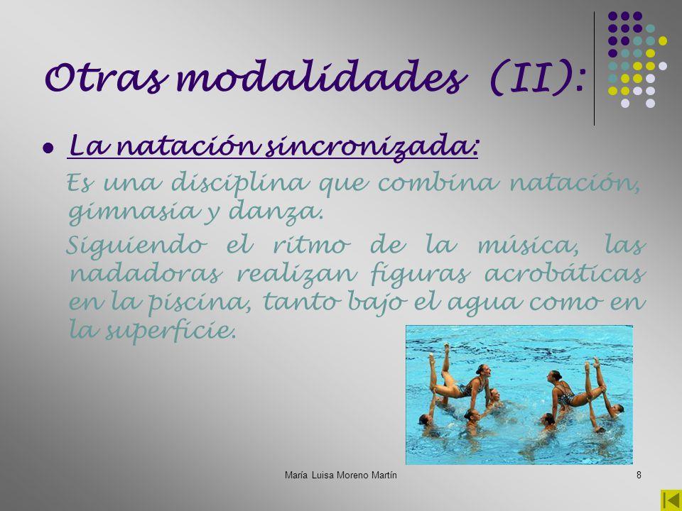 María Luisa Moreno Martín9 Otras modalidades (III): El triatlón: El Triatlón es un deporte individual y de resistencia, que reúne tres disciplinas deportivas: Natación, ciclismo y la carrera a pie.