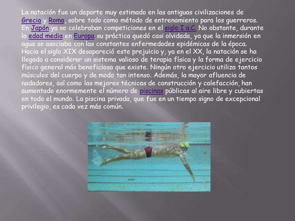 Estilo Libre (crol) se refiere a que el nadador puede realizar el estilo que a él más le convenga.