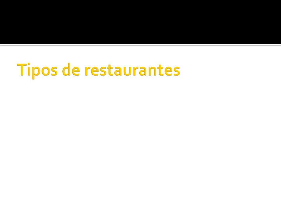 RRestaurant: Es el mismo concepto de restaurante que puede encontrarse en casi cualquier país del globo.
