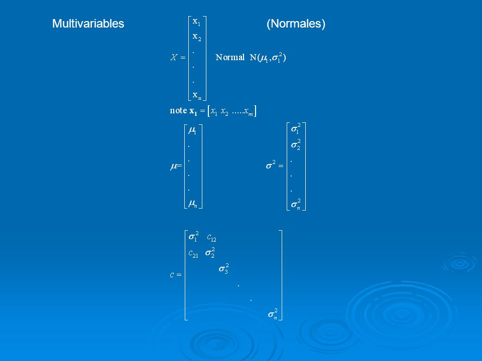 Multivariables (Normales)