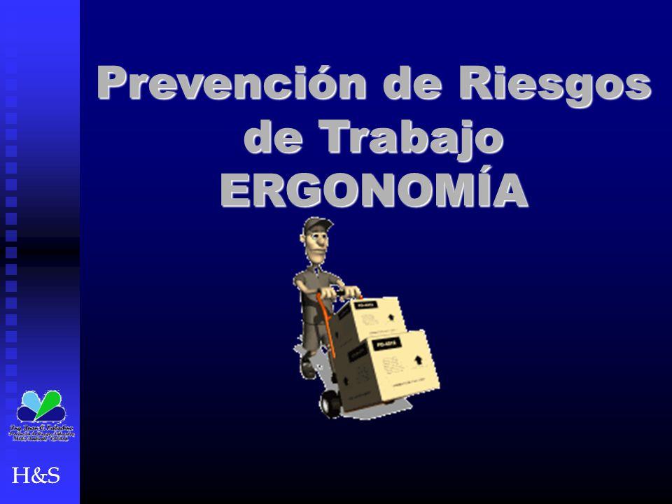 H&S Prevención de Riesgos de Trabajo ERGONOMÍA H&S