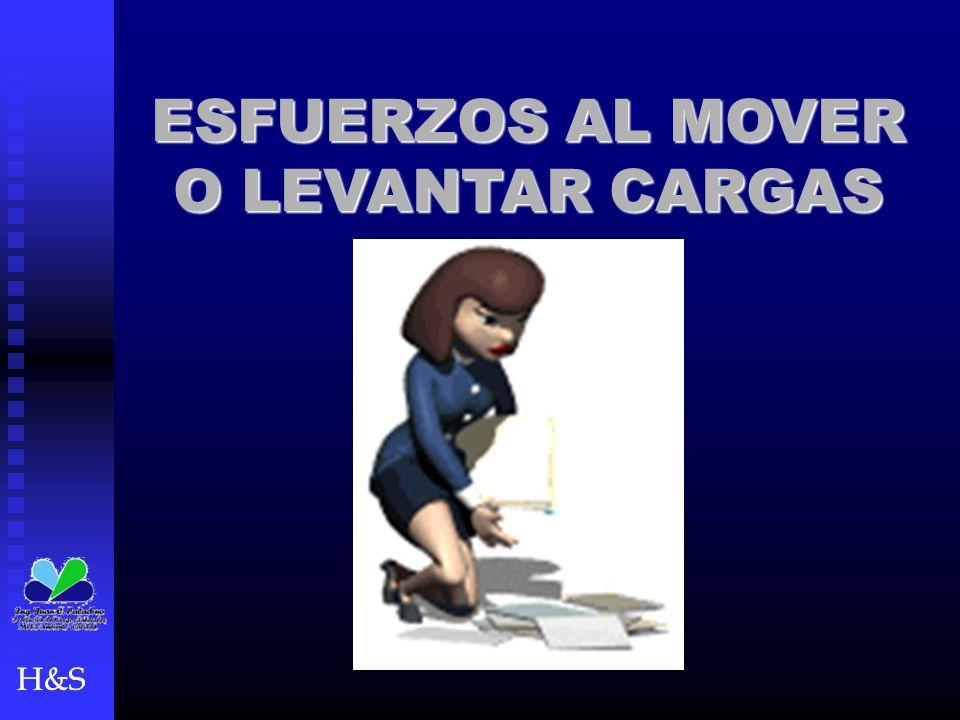 H&S ESFUERZOS AL MOVER O LEVANTAR CARGAS H&S