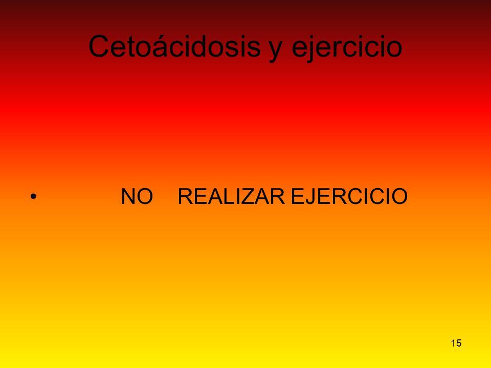 15 Cetoácidosis y ejercicio NO REALIZAR EJERCICIO