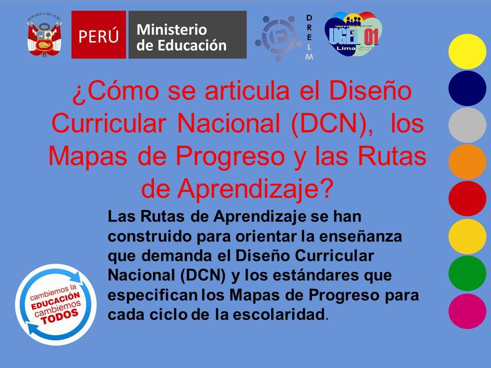¿Cómo se articula el Diseño Curricular Nacional (DCN), los Mapas de Progreso y las Rutas de Aprendizaje.
