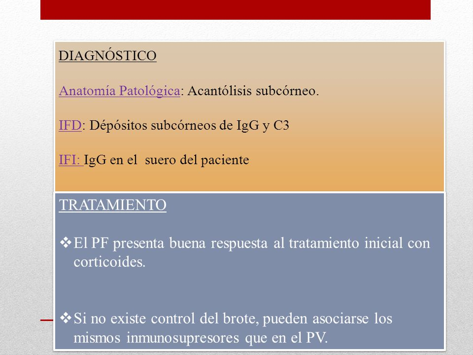 DIAGNÓSTICO Anatomía Patológica: Acantólisis subcórneo.