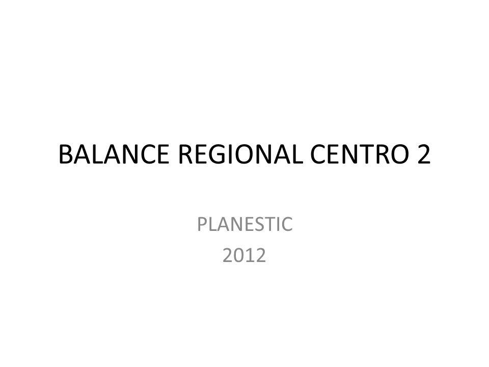 BALANCE REGIONAL CENTRO 2 PLANESTIC 2012