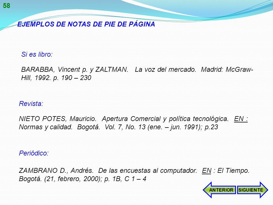 EJEMPLOS DE NOTAS DE PIE DE PÁGINA BARABBA, Vincent p.