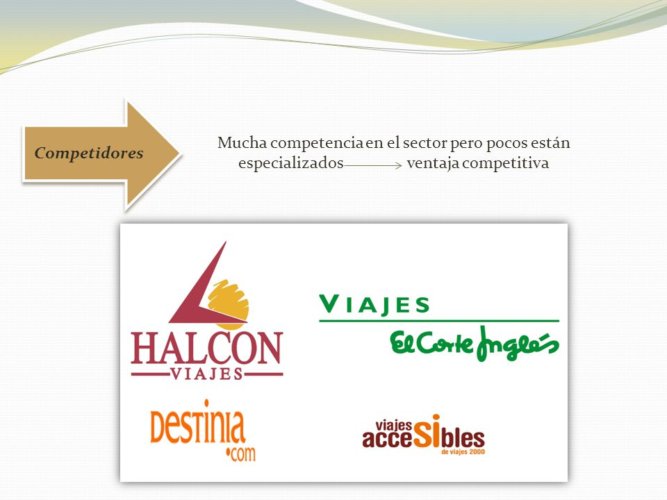 Competidores Mucha competencia en el sector pero pocos están especializados ventaja competitiva