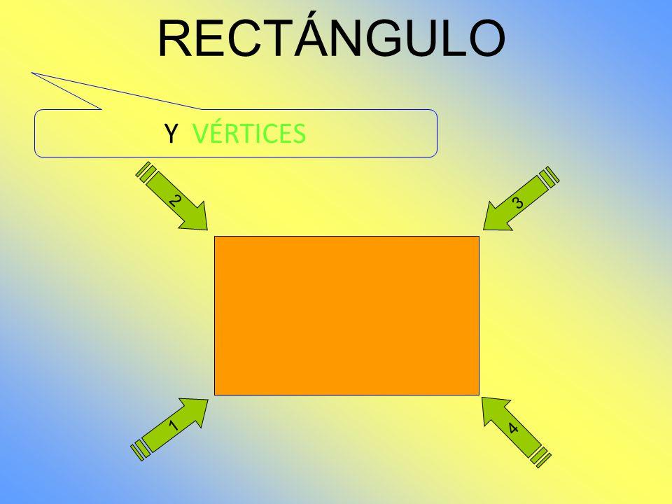 2 1 4 3 RECTÁNGULO El rectángulo también es un polígono de cuatro LADOS. Los lados opuestos son paralelos.