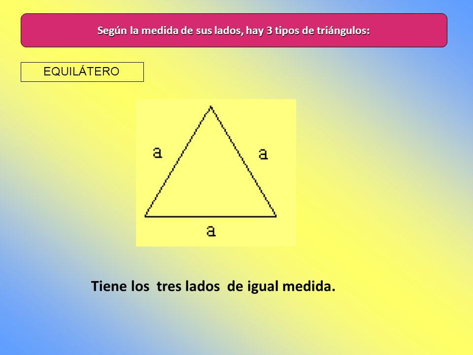 CLASIFICACIÓN DE LOS TRIÁNGULOS ladosángulos Recordemos que un triángulo es un polígono que tiene tres lados y tres ángulos. A partir de estas caracte