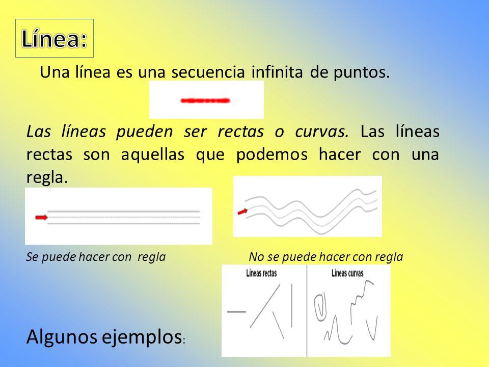 Un punto carece de dimensiones, es sólo una posición en el espacio. Se acostumbra denotar los puntos por letras mayúsculas, por ejemplo. A: punto A.