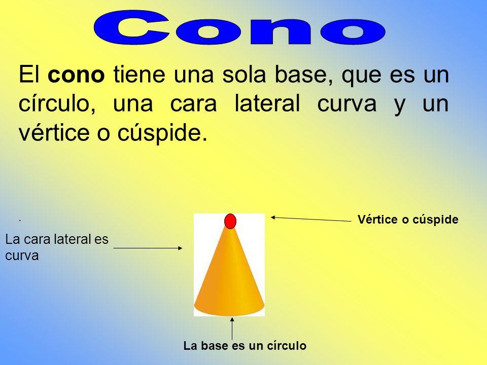 El cilindro tiene dos bases iguales, que son círculos, y una cara lateral curva también llamada manto. Las bases son dos círculos iguales. La cara lat