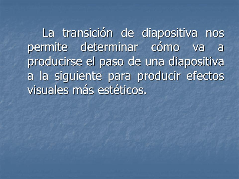 TRANSICIÓN DE DIAPOSITIVAS