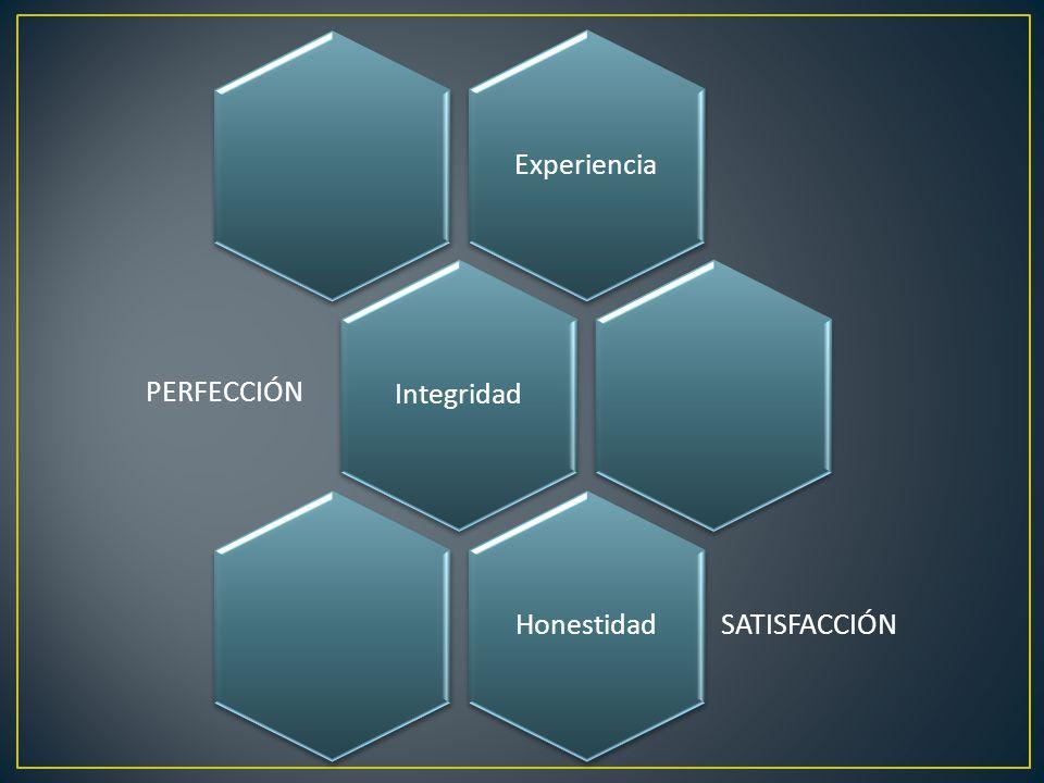 ExperienciaIntegridad PERFECCIÓN Honestidad SATISFACCIÓN