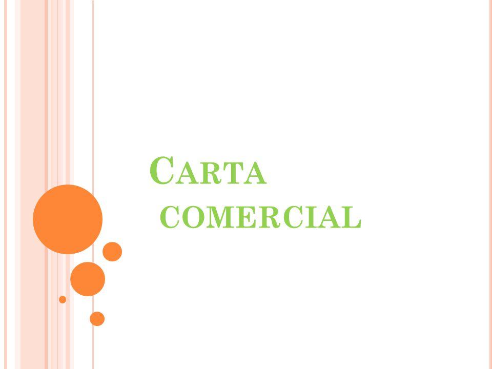C ARTA COMERCIAL