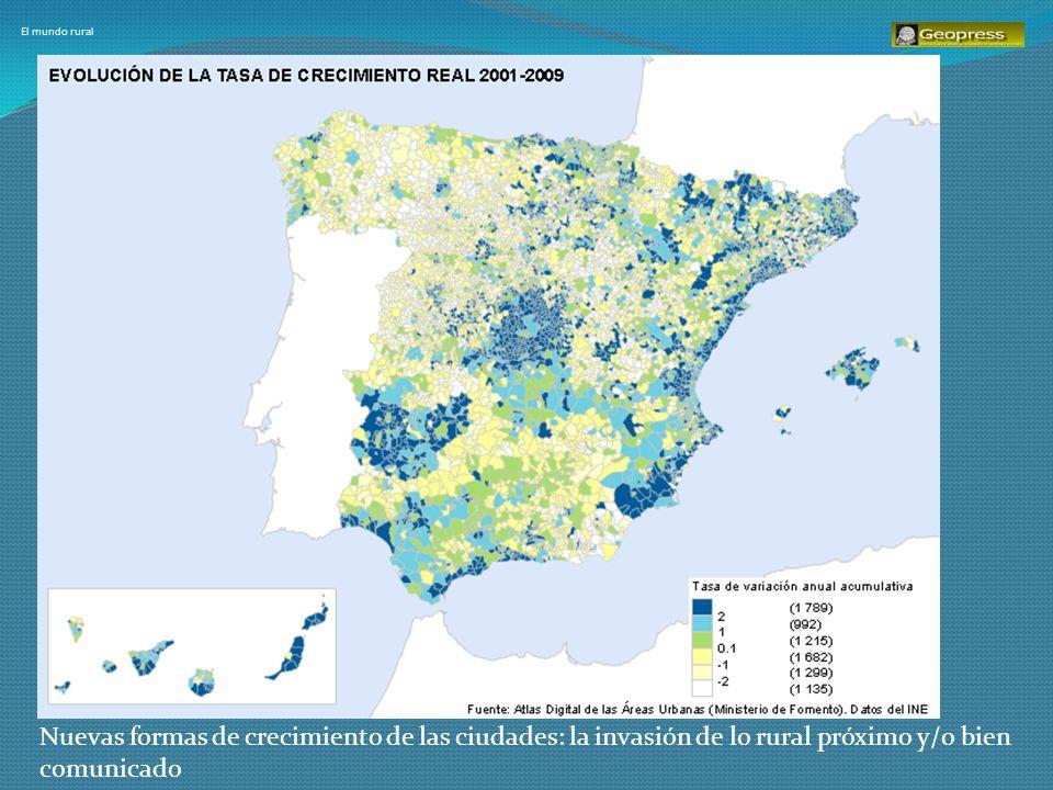 El mundo rural Nuevas formas de crecimiento de las ciudades: la invasión de lo rural próximo y/o bien comunicado