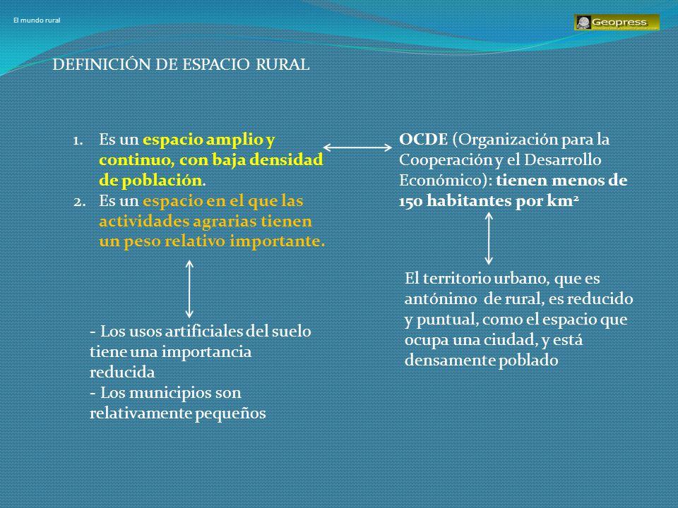 El mundo rural Criterio OCDE