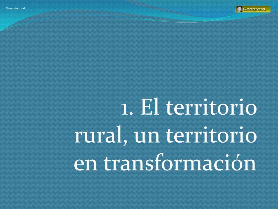 El mundo rural Las áreas rurales se encuentran en un proceso de cambio acelerado: a.Están dejando atrás el un predominio claro de las actividades agrarias b.Están desarrollando actividades antes asociadas a lo urbano c.Están desarrollando nuevas actividades, como turismo, etc.