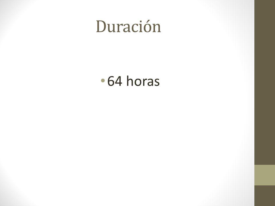 Duración 64 horas