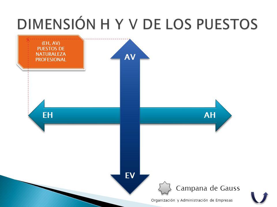 (EH, AV) PUESTOS DE NATURALEZA PROFESIONAL (EH, AV) PUESTOS DE NATURALEZA PROFESIONAL Campana de Gauss AV EV AHEH