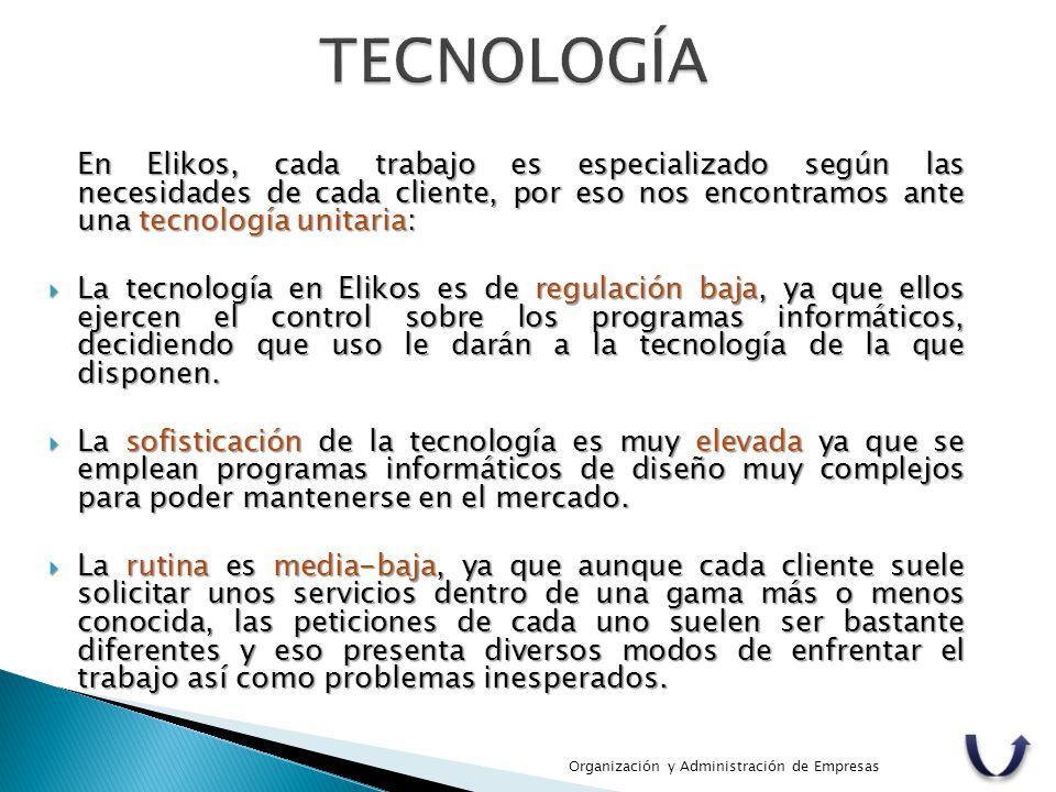 En Elikos, cada trabajo es especializado según las necesidades de cada cliente, por eso nos encontramos ante una tecnología unitaria:  La tecnología