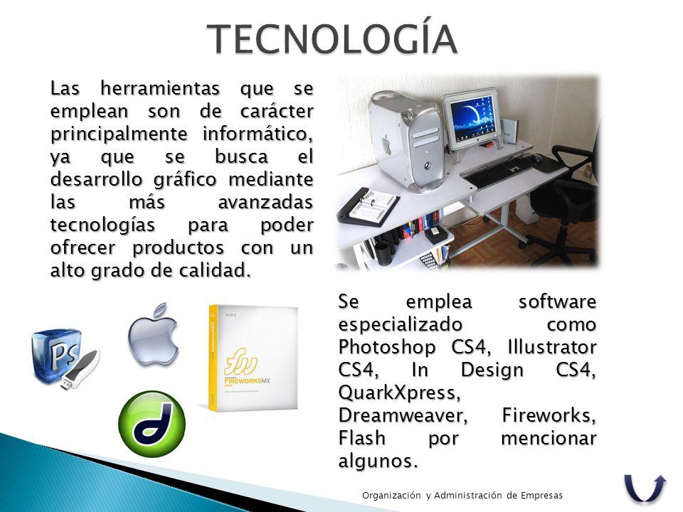 Las herramientas que se emplean son de carácter principalmente informático, ya que se busca el desarrollo gráfico mediante las más avanzadas tecnologí