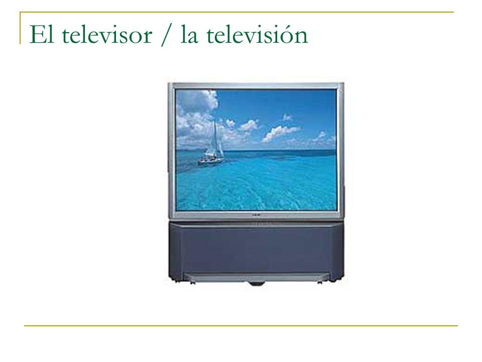 El televisor / la televisión