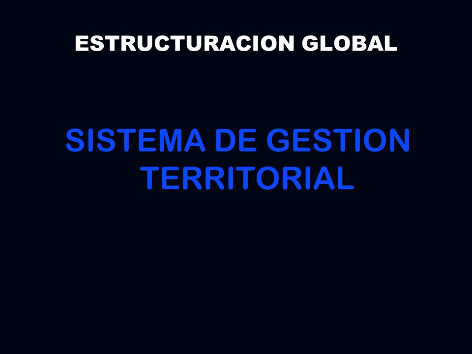 SISTEMA DE GESTION TERRITORIAL ESTRUCTURACION GLOBAL